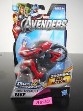 NEW! MARVEL AVENGERS IRON ASSAULT BIKE BATTLE CHARGERS ZOOMING FAST ACTION A8-20