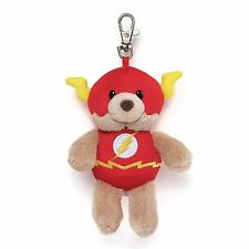 GUND DC Comics Super Hero FLASH Blaze Backpack Bear Handbag Clip #4050320 NEW