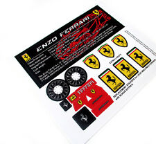 REPLACEMENT STICKERS for Lego 8653 ENZO FERRARI, MODELS,ETC with CUSTOM PLAQUE