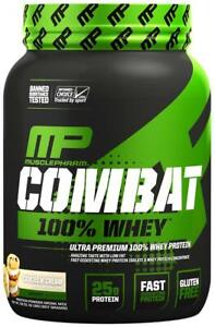 MusclePharm Combat 100% Whey 28Servings Cookies And Cream 2 lb-jW6