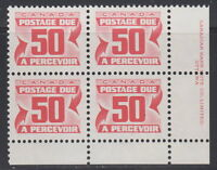 Canada #J40 50¢ POSTAGE DUE LR PLATE BLOCK MNH