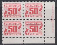 Canada #J40 50¢ POSTAGE DUE LR PLATE BLOCK MNH