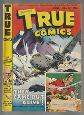 TRUE COMICS 61 1947 Comic Book Bob Feller Peter Le Grand Miracle Of The Gulls