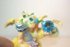 Franklin Mint Mood Dragon - Dippy - Blue & Yellow - Light Blue Crystal