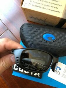 COSTA DEL MAR BRINE SUNGLASSES BLACK/GRAY 580P