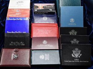 Lot of 46 Assorted Prestige Premier Proof Sets & UNC / Proof Dollars 1971-2013