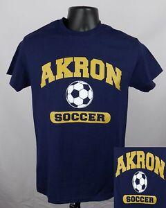 Akron Zips Soccer Shirt Unisex Small Blue Graphic Logo Adult Shirt New ST139
