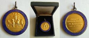 International athletics meeting in 1957 Italy - Amazing silver 800% medal Boxing