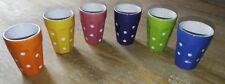 6 anciennes tasses a café expresso colorées à pois
