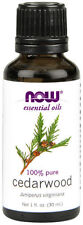 NOW Foods Cedarwood Essential Oil 1oz. Bottle For Burners & Diffusers!  FreeShip