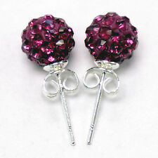 Shamballa Earrings Disco Ball Stud 10mm - 3 Pairs For The Price of 2 - UK SELLER