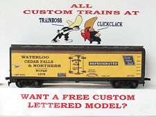 Ho Custom Lettered Waterloo Cedar Falls & Northern Freight Car Reefer. Lot A