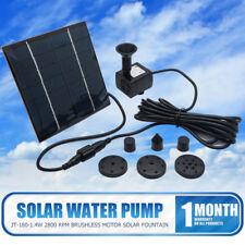 Bomba de Agua Panel Solar a Fuente Jardin Estanque Pecera Acuario 7V 1.4W 180L/H