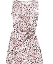 Diane Von Furstenberg DVF Womens 8 Faux Wrap Della Dress Pink & Black Floral