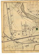 1876 Map of Hyde Park, Southern Section, Readville, Massachusetts w/family names