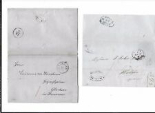 Germany/Austria/Netherlands-7 FL (stampless covers) 1843-1854-plus