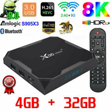 2020 X96 MAX+ Android 9.0 TV Box 4GB+32GB Amlogic S905X3 5Ghz Dual WIFI HDMI UK