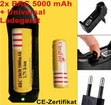 2 x ultrafire bateria 18650 5000 mah 3,7v+ universal cargador 1000ma certificado CE