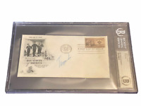Trygve Lie 1st United Nations Secretary-General Signed Autograph Slabbed Beckett