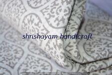2.5 Yard Indian hand block print 100% Cotton Indigo Dabu Jaipuri Anokhi Fabric
