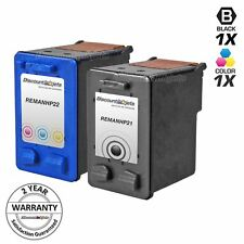 2 BLACK COLOR 21 22 C9351AN C9352AN Ink Cartridge for HP Deskjet F2180 D1460