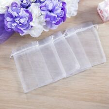 100 Wedding Party Love And Jewelry Packaging Purple Bag Organza Gift Net Bags
