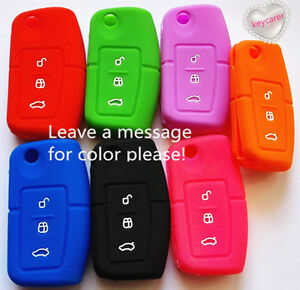 SILICONE FLIP CAR KEY COVER fits FORD FIESTA FOCUS MONDEO XR6 TERRITORY FALCON