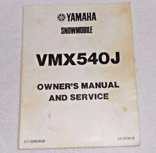Yamaha Snowmobile Service Manual 1984 Vmx540J