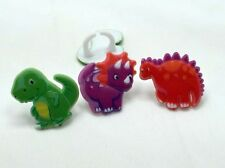 12 Dinosaur Rings Cupcake Toppers Cake Cookie Pop Decorations Party Favors