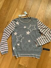 Roman Originals Round neck Sweater Ladies Size UK14 Stars & Stripes pattern NEW