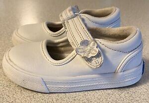 Keds Ella Toddler Girls White Leather Shoes Size 4M