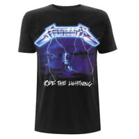 Metallica T Shirt Ride The Lightning Tracks Official Black Mens Metal Rock Merch