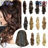 Synthetic Jaw Ponytail Clip in Hair Extension Claw Pony Tail Wavy Hair Piece US