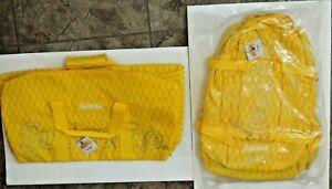 SUPREME 3M Box Logo FW18 Yellow BACKPACK & DUFFLE Waterproof BAG Matching Lot!