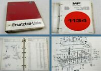 Massey Ferguson MF1134 Schlepper Parts Book Ersatzteilliste 1977/78