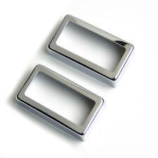 Metal Regular Humbucker Pickup Cover Rectangle opening ,Chrome (set of 2)