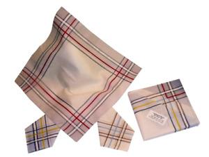 Herrentaschentücher Stofftaschentücher Baumwolle Hochwertig 6 Stück 40 x 40 cm