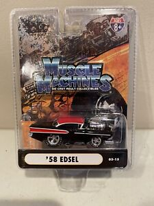 2005 THE ORIGINAL MUSCLE MACHINES '58 Ford Edsel 1958 Black 1:64
