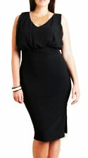 Polyester V-Neck Work Dresses for Women