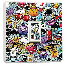 Graffiti stickerbomb style light switch sticker cover (12884801) Graffiti