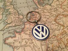 Volkswagen Enamel blue and white keyring  VW