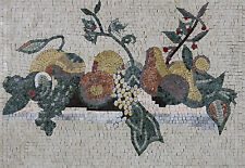 Healthy Delicious Fruit Basket Kitchen Backsplash Marble Mosaic Kb40