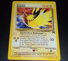 Zapdos #23 PORTUGUESE Black Star PROMO WOTC Rare NEAR MINT Pokemon Card