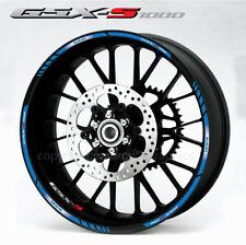Suzuki GSX-S 1000 wheel stickers decals gsxs1000 rim stripes Gsxs Laminated Blue