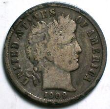 1909 O Barber Dime Fine Details