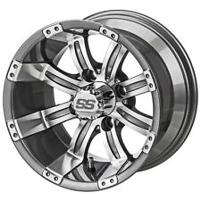 (4)Golf Cart 205/50-10 Tire on 10x7 Gunmetal Casino Wheel W/Free Freight