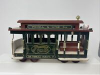 "Vintage ""San Francisco Cable Car"" Music Box Powell & Hyde Street Trolley Train"