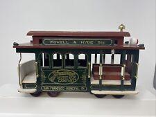 "Vintage ""San Francisco Cable Car� Music Box Powell & Hyde Street Trolley Train"