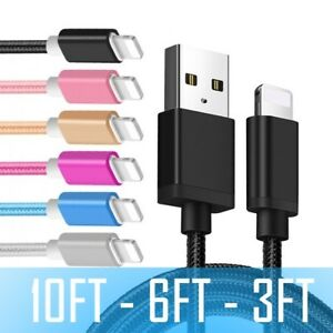 Charging Cable 10/6/3FT USB Charger for Original Apple iPhone 11 XR 7 8 Plus 6