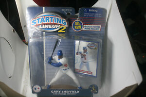 Starting Lineup 2 MLB Gary Sheffield Los Angeles Dodgers White Jersey New